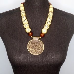 Handmade African-Inspired Tribal Chunky Necklace